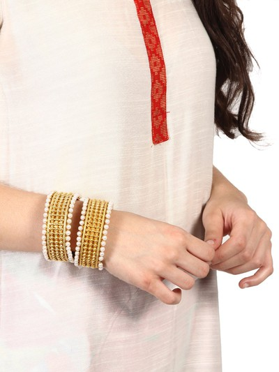 48-jewellery-design-Set-Of-2-Gold-Toned-Pearl-Bangles