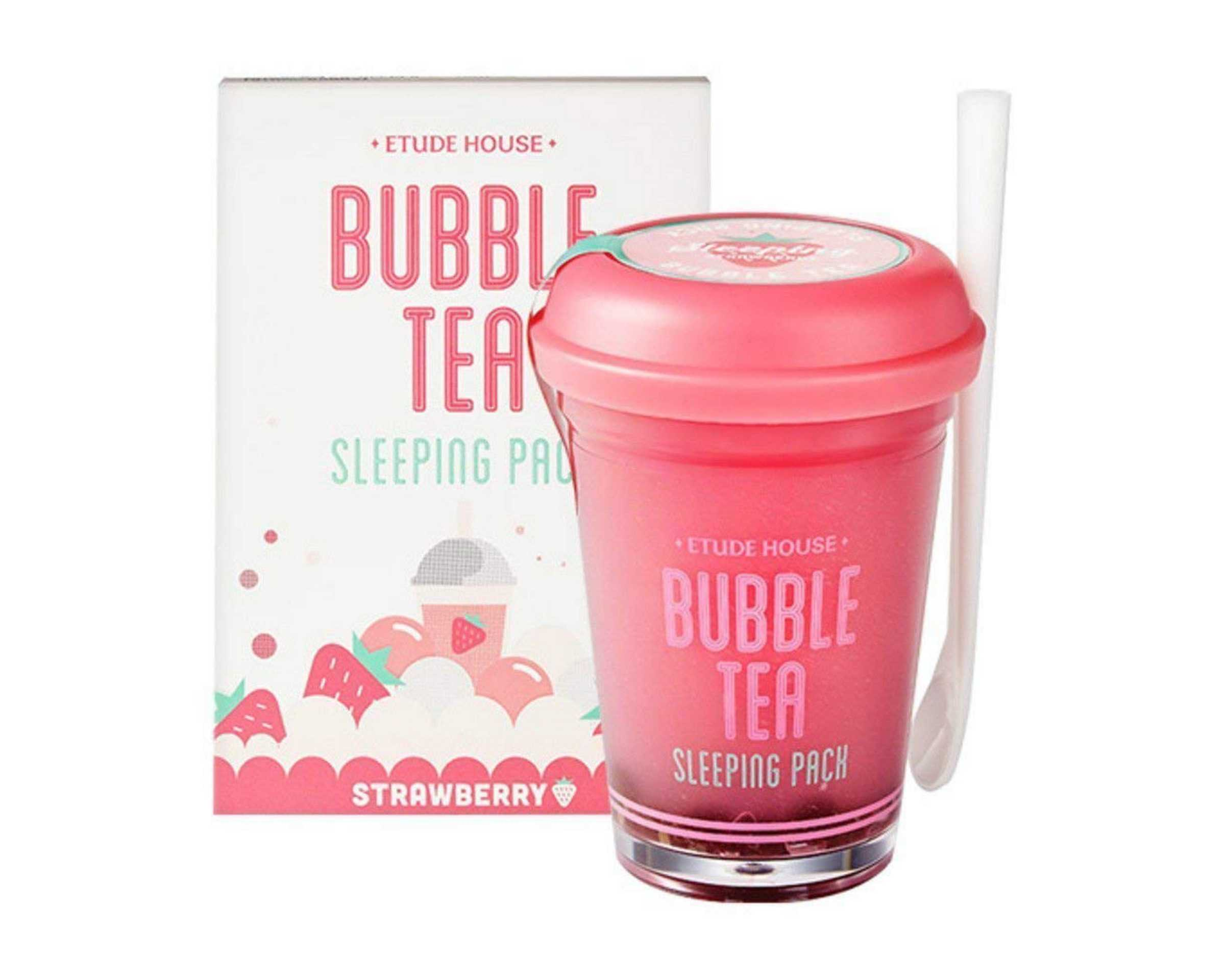 Korean-Products-To-Try-In-2019-Etude-House-Cosmetic-Products-Bubble-Tea-Sleeping-Pack-Strawberry-Tea1