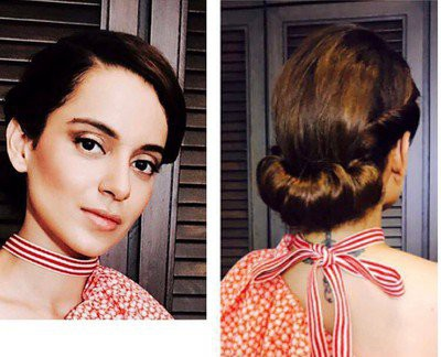 6-hairstyles-for-saree-looped-half-up in marathi