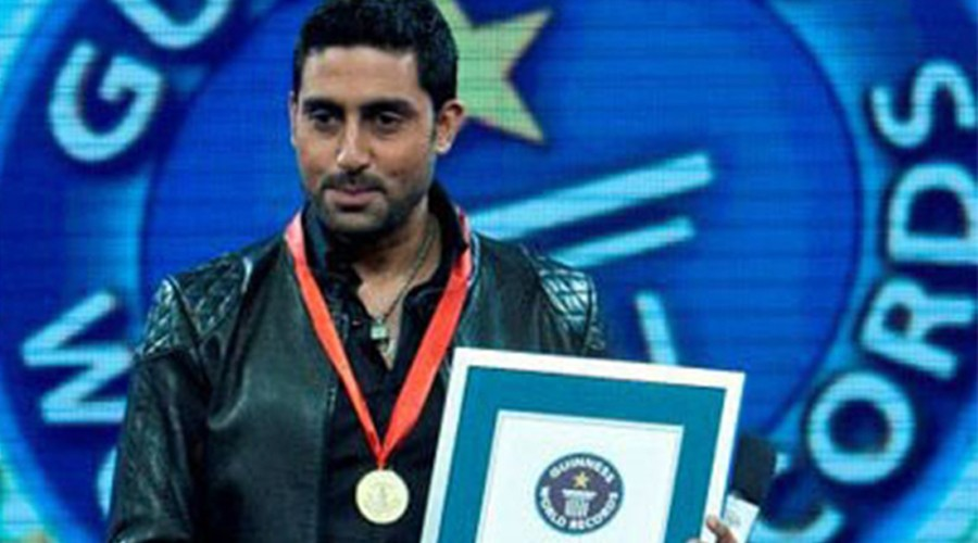 Abhishek Bachchan Guinness World record