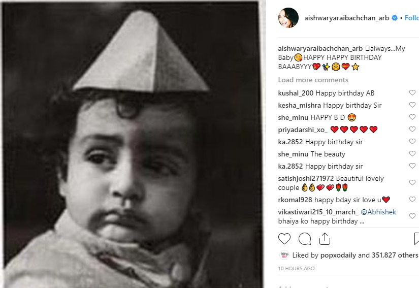 abhishek bachchan happy birthday baby