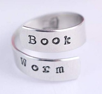 Gifts For Book Lovers- Bookworm ring