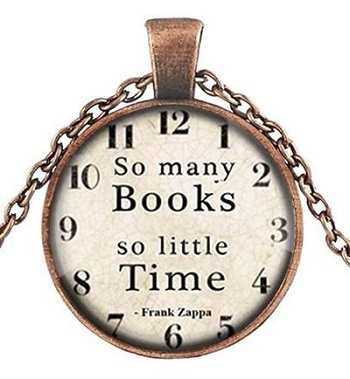 Gifts For Booklovers- clock art pendant