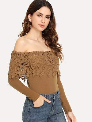 Off-Shoulder-Contrast-Lace-Top-For-Honeymoon