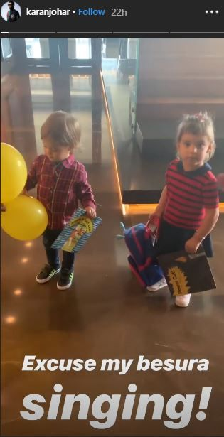 Karan Johar's Twins Yash And Roohi