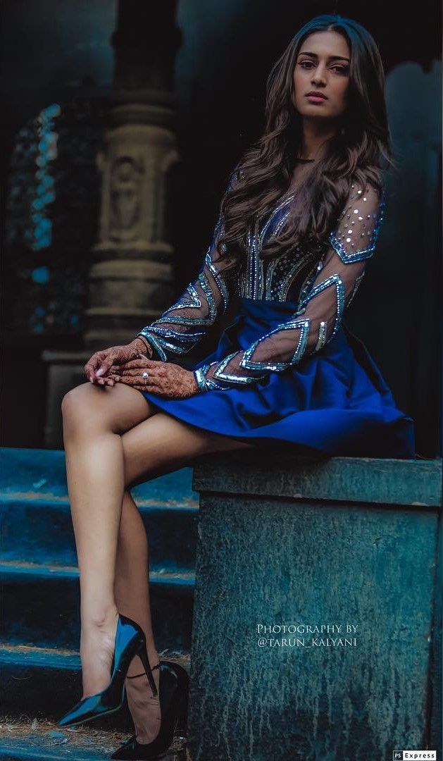 Erica-Prerna-hot-and-sexy-look-photoshoot-blue-dress