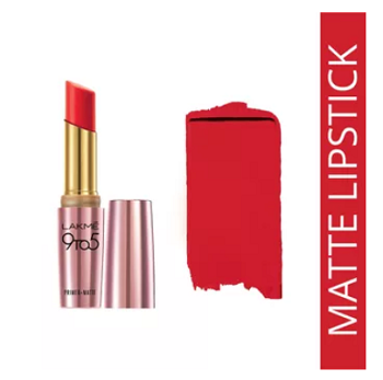 Lakme-9-to-5-Primer-Matte Lip-Color-red-lipstick-shades