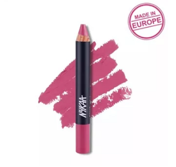 Nykaa-Pout-Perfect-Lip-Cheek-Velvet-Matte-Crayon-Lipstick-red-lipstick-shades