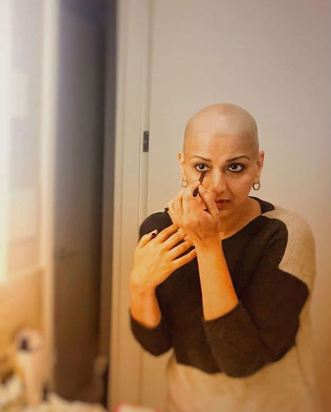 sonali bendre-fighting cancer