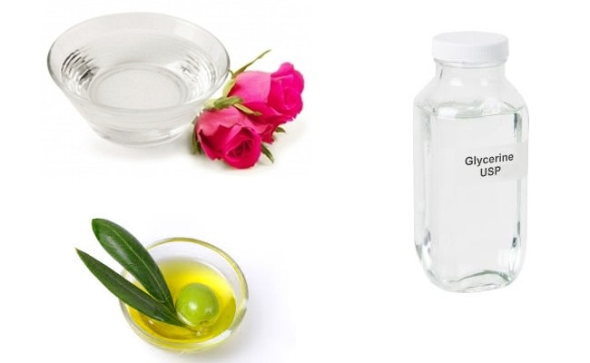 Rose-water-Olive-Oil-and-Glycerin-Moisturizer