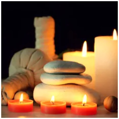 hot candle wax massage therapy