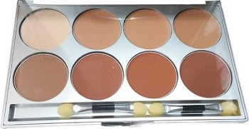 7 Kryolan Ultra Cream Powder 8 Color Palette Foundation  %28Transparent%29