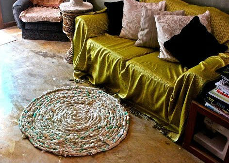 rugs from old bedsheets