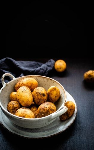 Boiled potato to reduce weight