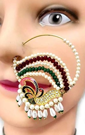 colorful beaded nose ring
