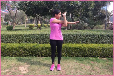 Stretching Excercise- Arm And Shoulder Stretch