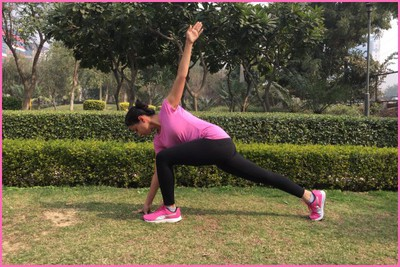 Stretching Excercise- Lunge With Spinal Twist