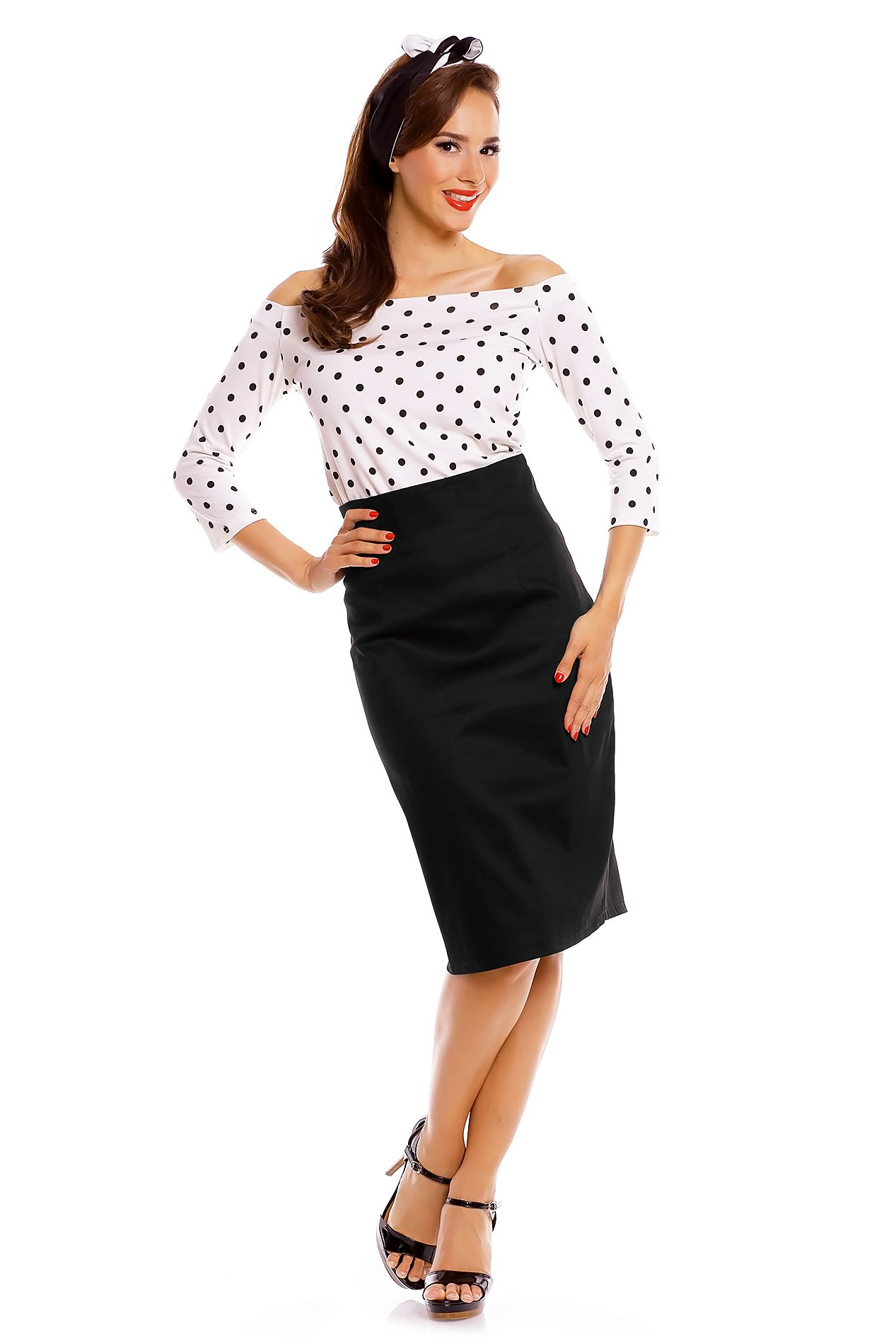 Girl in a pencil skirt