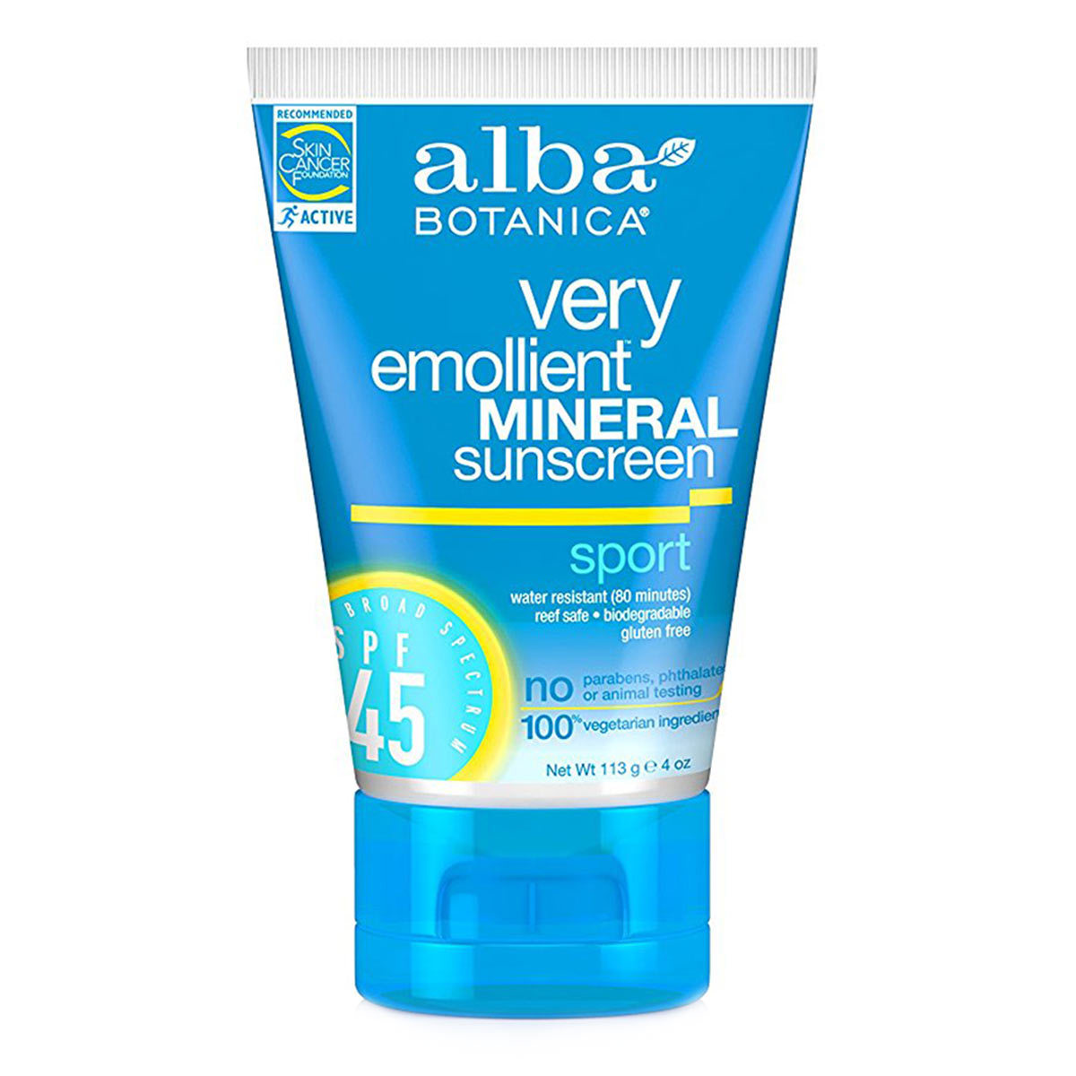 reef-friendly-sunscreen-Alba Botanica Sunscreen Sport Mineral SPF 45