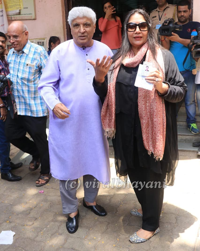 Voting- Jawed Akhtar and Shabana Azmi