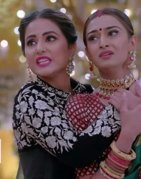 2 erica fernandes with hina khan