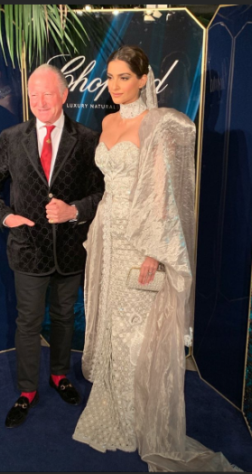 3 sonam kapoor in a silver gown at cannes 2019