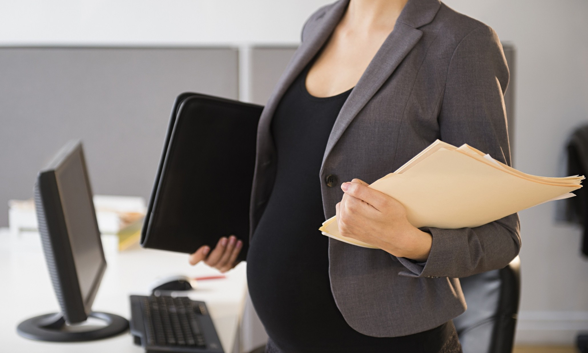 Pregnant working woman