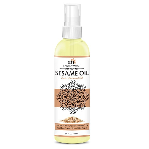 aromamusk-usda-organic-sesamme-oil Best hair Oils In Telugu