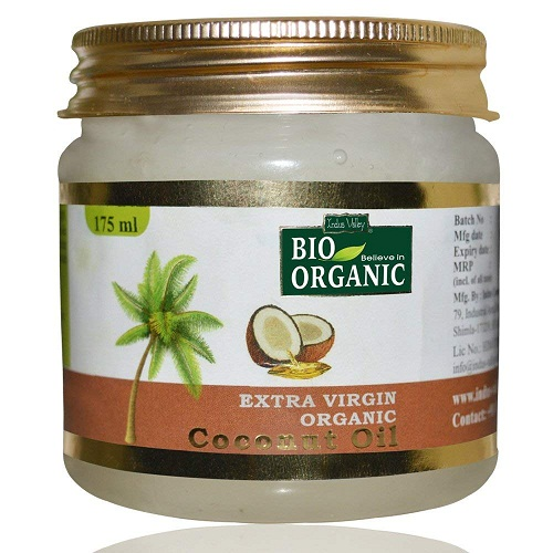 indus-valley-bio-organic-coconut-oil Best hair Oils In Telugu