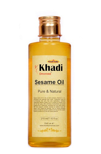 khadi-sesame-oil Best hair Oils In Telugu