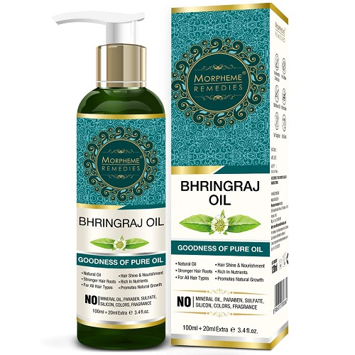morphrme-bhringraj-oil Best hair Oils In Telugu