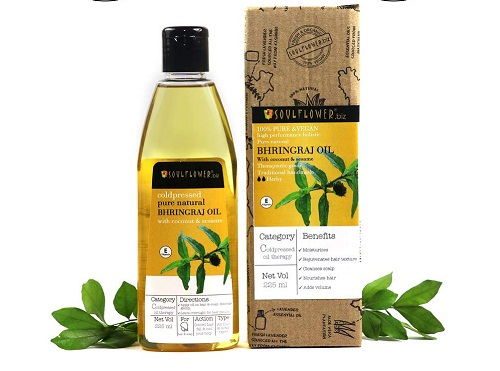 soul-flower-bhringraj-oil Best hair Oils In Telugu