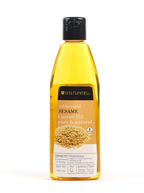 soul-flower-sessame-hair-oil Best hair Oils In Telugu