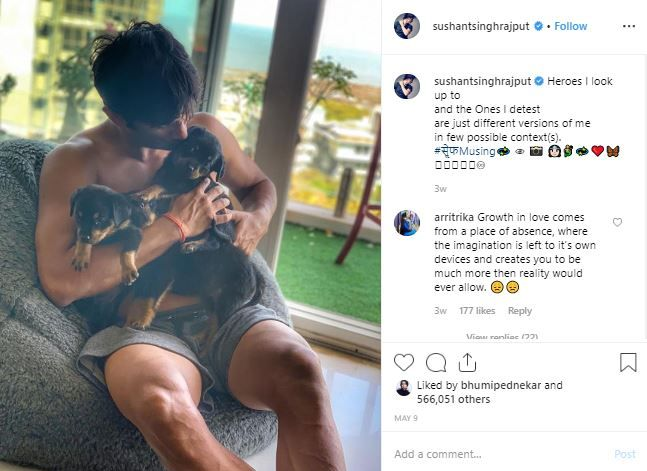 4 instagram lessons from celebs - sushant singh rajput