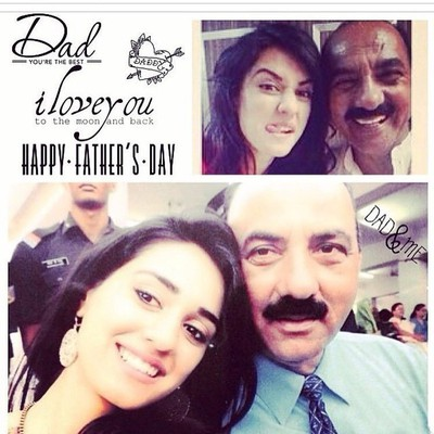 Disha Patani with Father