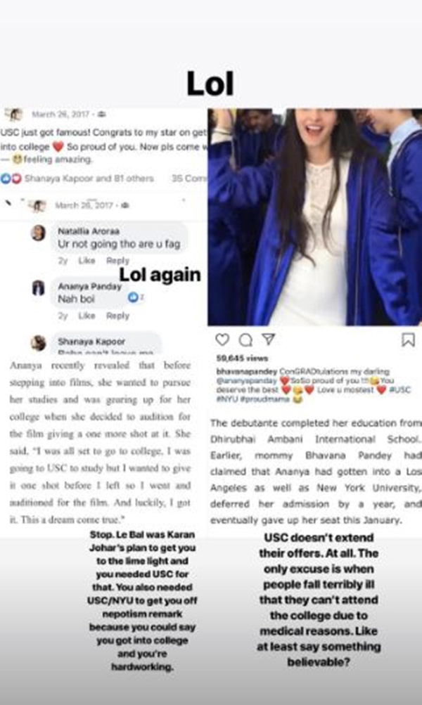 Ananya Panday Fakes Her Degree- Screenshot 5