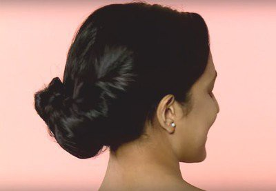13. Simple Hairstyle In Marathi