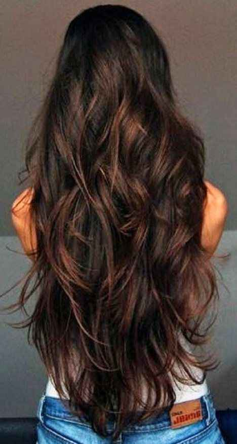 Long wavy Layered Haircut