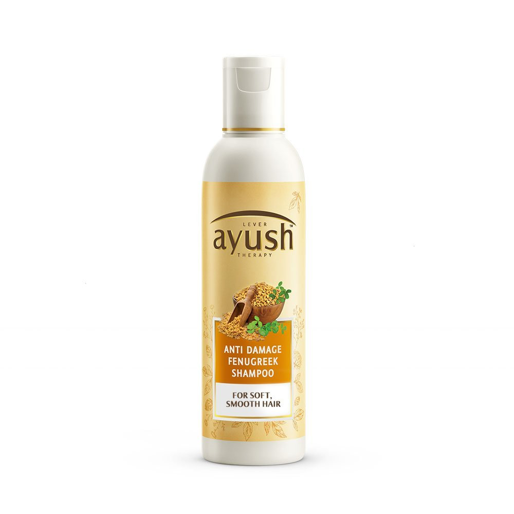 4 herbal beauty products - Ayush Anti Damage Fenugreek Shampoo