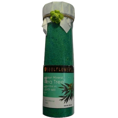 12 skincare products - soul flower tea tree bath salt