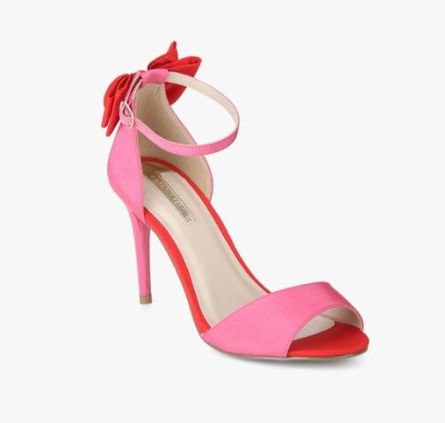 4 types of footwear - Pink Bow Ankle Strap Stilettos