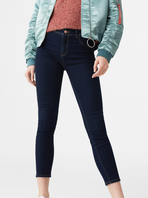 1 fashion essentials for college girlsNavy Super-Skinny Fit Mid-Rise Clean Look Cropped Jeans