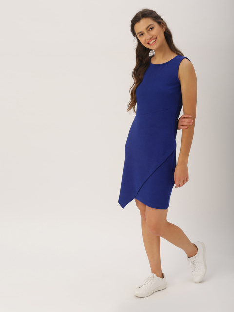 5 dresses that suit girls with dusky skin -DressBerry Women Blue Sheath Dress