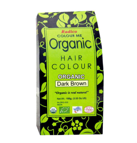 10 hair colour products - Radico Colour Me Dark Brown Organic Hair Colour