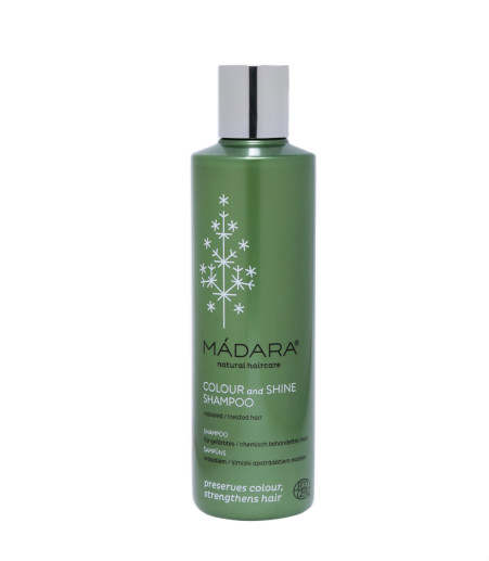 5 hair colour products -  Madara Natural Haircare Colour   Shine Shampoo