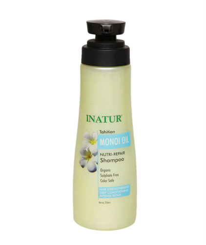 9 hair colour products - Inatur Tahitian Monoi Oil Nutri-Repair Shampoo