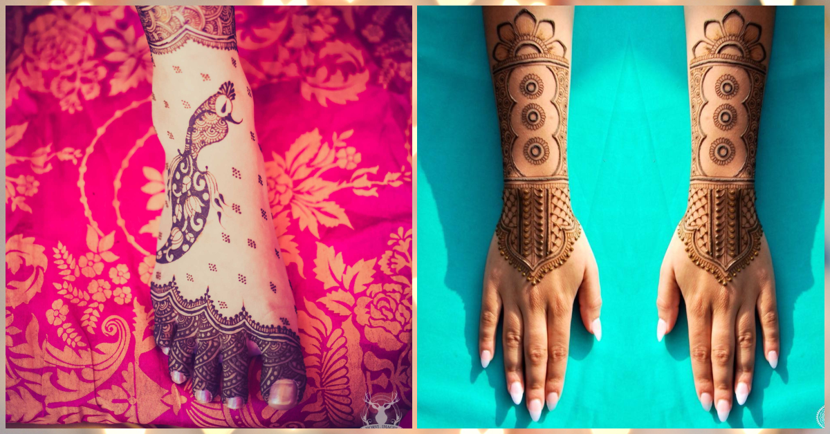 Bridal mehendi designs which are simple yet stunning