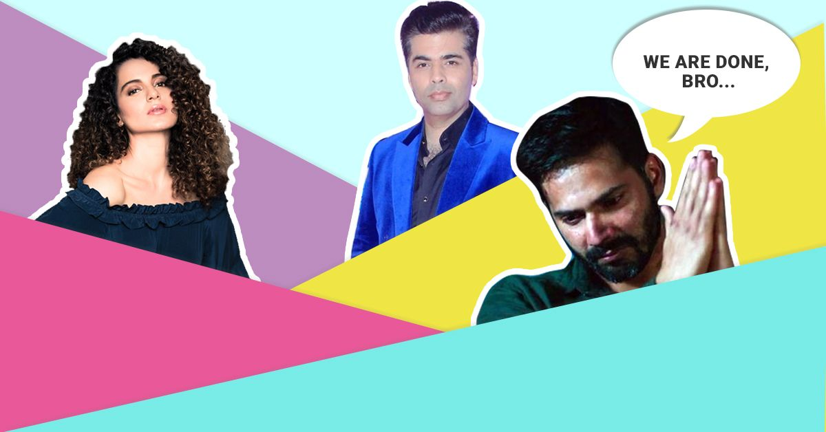 KJo Vs Kangana: Here's The Latest In The Nepotism Debate!
