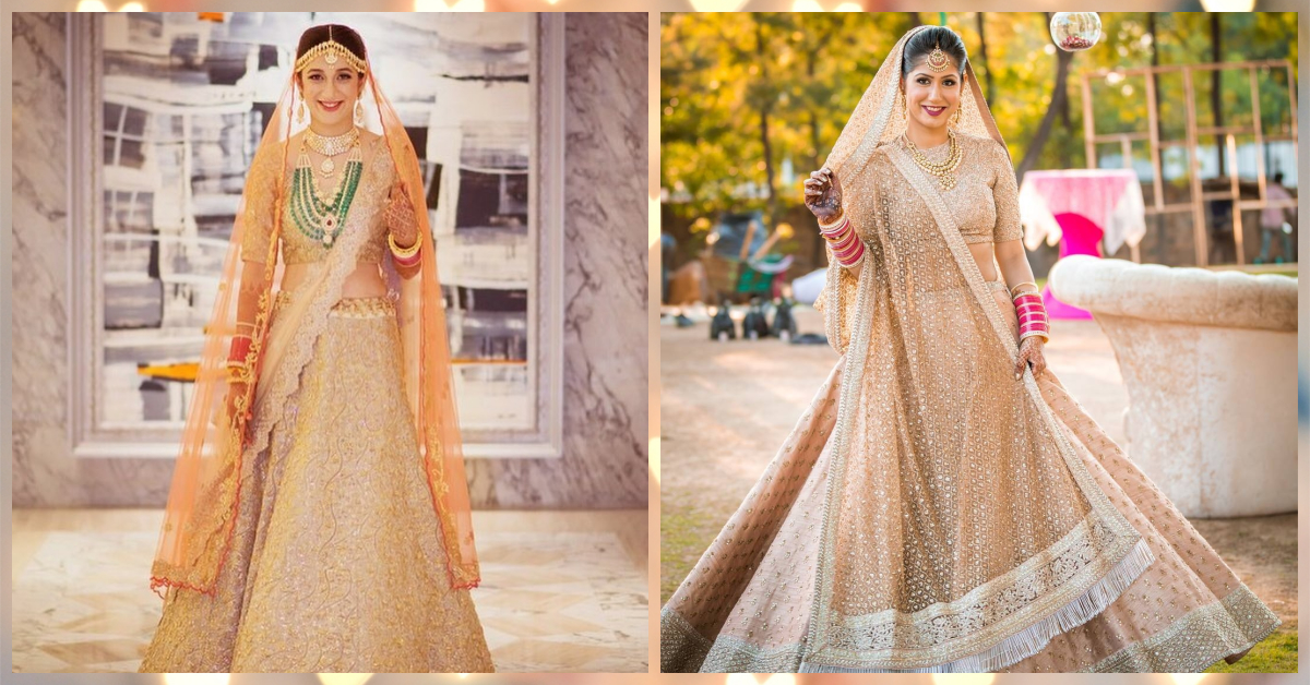 The Most *Gorgeous* Gold-Toned Lehengas We Spotted On Brides!