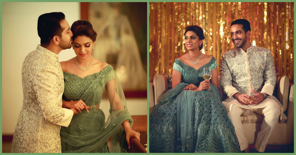 An Elegant Engagement & A Bride In Teal... You'll LOVE The Pictures!